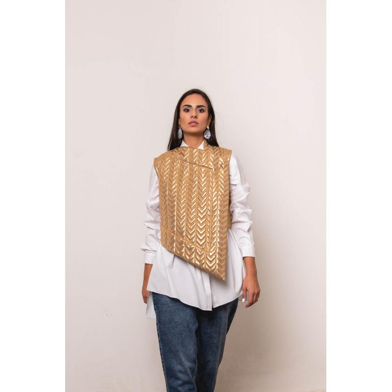Puffy Vest in Gold