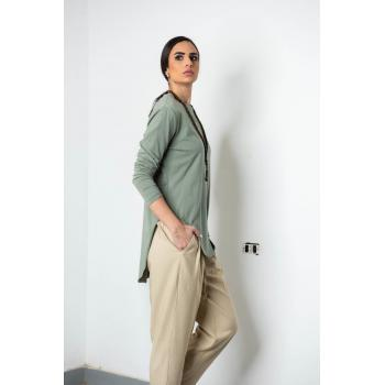 Rounded Hem T-shirt In Olive