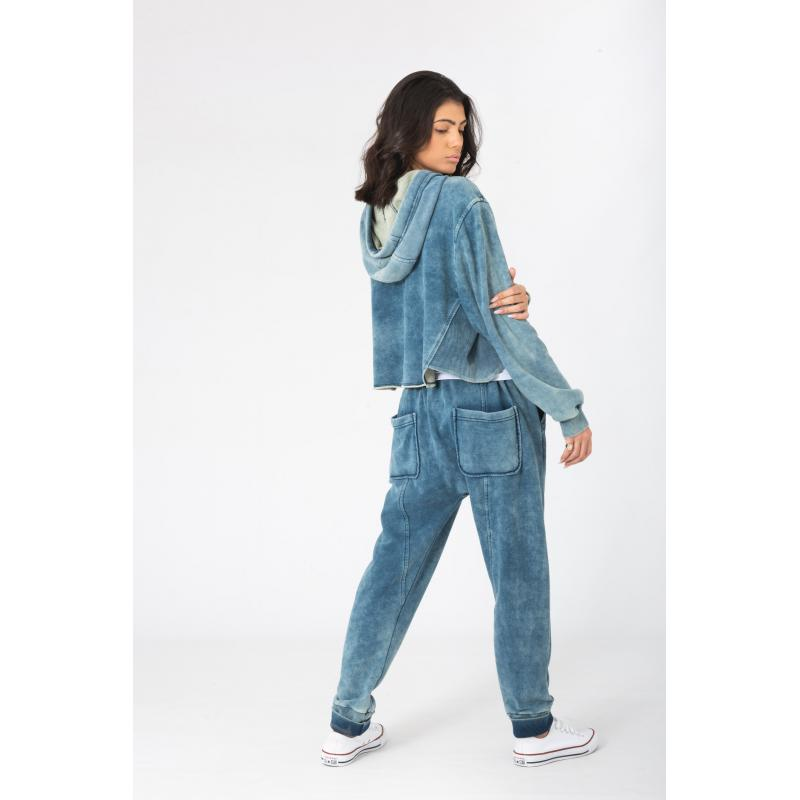 Low Crotch Classic Jogger In Denim Wash